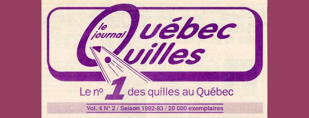 En-tête du Journal Québec Quilles