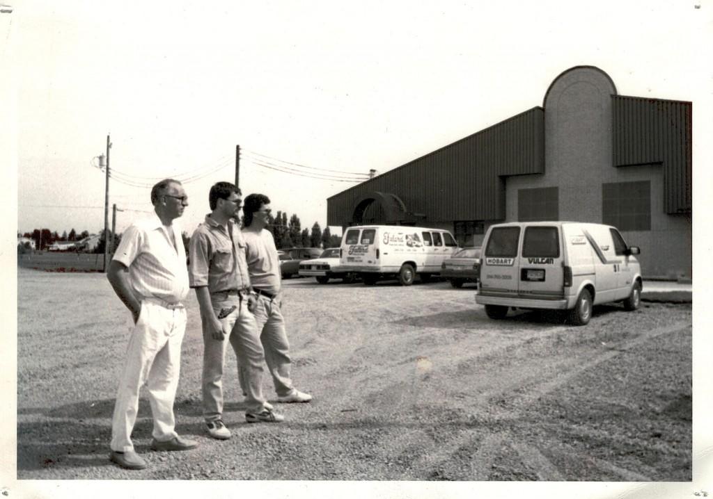 Gérard, Christian et Marc, au début de l'aventure