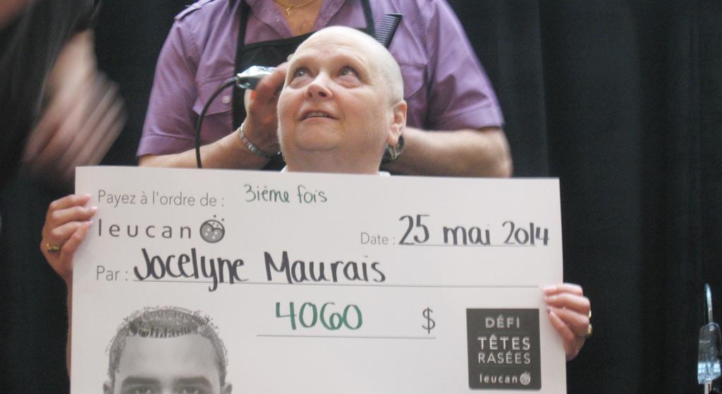 Jocelyne Maurais au Défi têtes rasées 2014