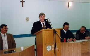 Réunion François Caron en 1992